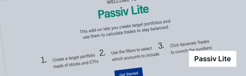 Passiv Lite Rebalancing